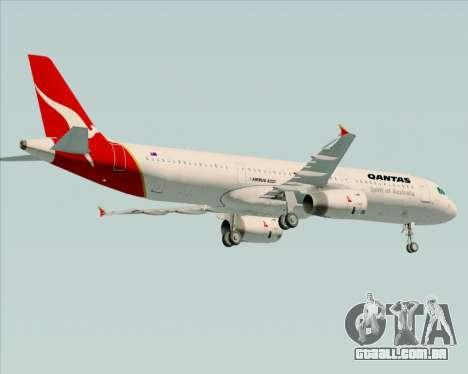 Airbus A321-200 Qantas para GTA San Andreas vista traseira