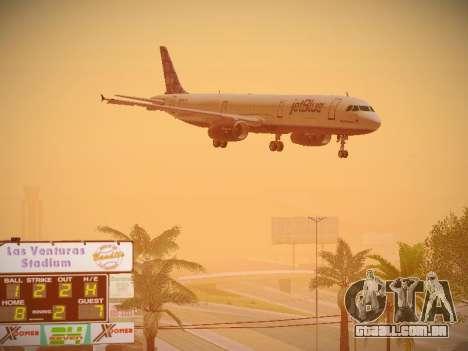 Airbus A321-232 jetBlue Blue Kid in the Town para GTA San Andreas vista interior