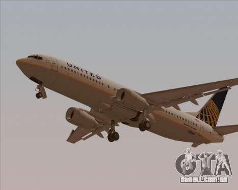 Boeing 737-824 United Airlines para o motor de GTA San Andreas