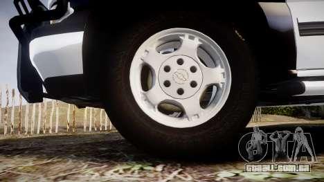 Chevrolet Silverado SWAT [ELS] para GTA 4 vista de volta
