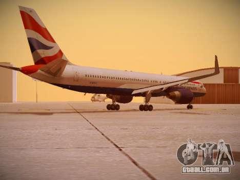 Boeing 757-236 British Airways para GTA San Andreas vista direita