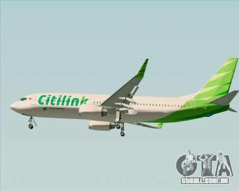 Boeing 737-800 Citilink para GTA San Andreas interior