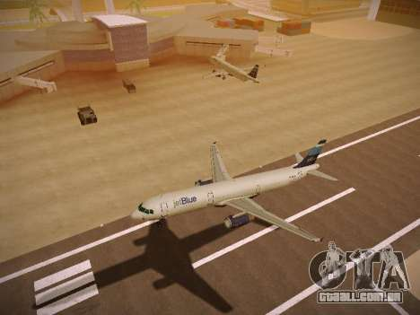 Airbus A321-232 Big Blue Bus para GTA San Andreas vista traseira