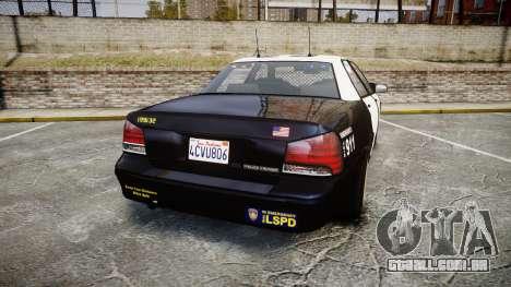 GTA V Vapid Cruiser LSP [ELS] Slicktop para GTA 4 traseira esquerda vista