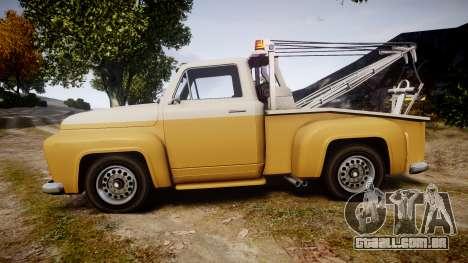 Vapid Tow Truck Jackrabbit v2 para GTA 4 esquerda vista