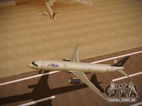 Airbus A321-232 jetBlue Woo-Hoo jetBlue para GTA San Andreas vista traseira