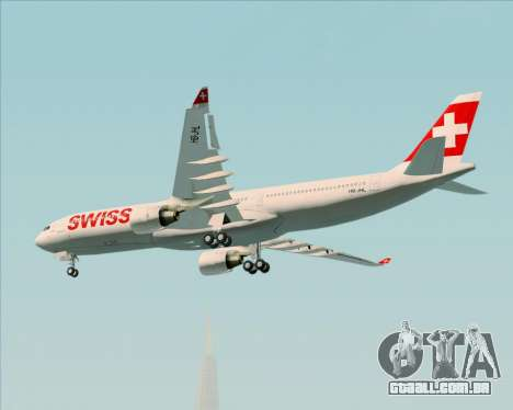 Airbus A330-300X Swiss International Air Lines para GTA San Andreas vista interior