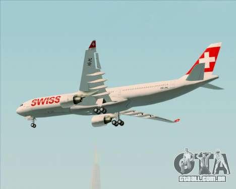 Airbus A330-300X Swiss International Air Lines para GTA San Andreas vista interior