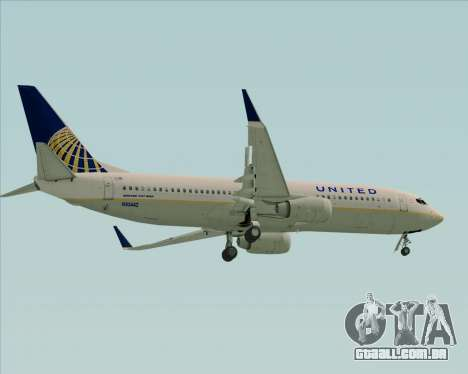 Boeing 737-824 United Airlines para GTA San Andreas vista direita
