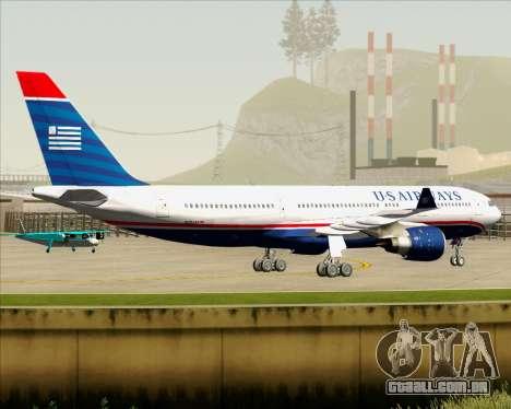 Airbus A330-200 US Airways para GTA San Andreas vista traseira