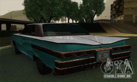 Declasse Voodoo para GTA San Andreas traseira esquerda vista