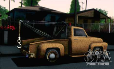GTA 5 Towtruck Worn para GTA San Andreas esquerda vista