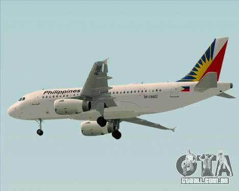 Airbus A319-112 Philippine Airlines para GTA San Andreas vista traseira