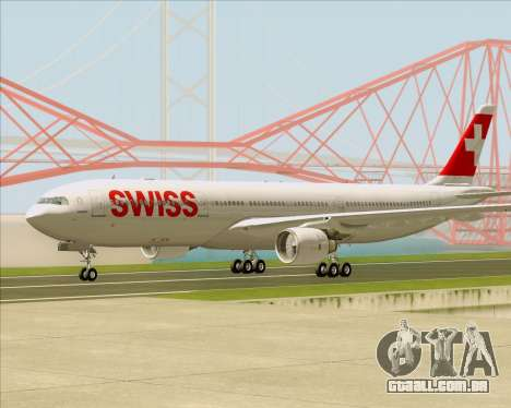 Airbus A330-300X Swiss International Air Lines para GTA San Andreas vista direita