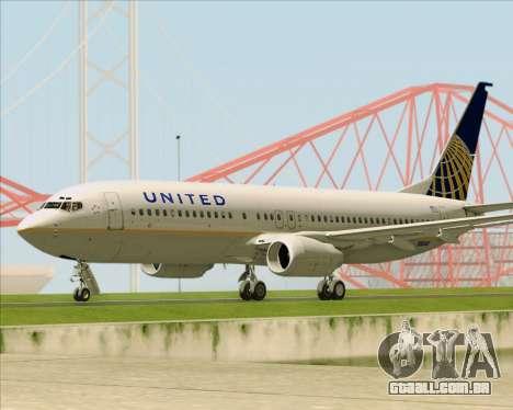 Boeing 737-824 United Airlines para GTA San Andreas vista interior