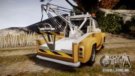 Vapid Tow Truck Jackrabbit v2 para GTA 4 traseira esquerda vista