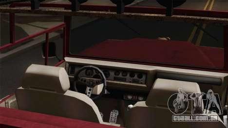 Canis Bodhi V1.0 Rusty para GTA San Andreas traseira esquerda vista