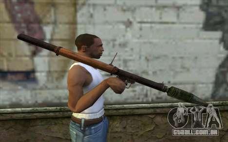 РПГ-2 (Battlefield: Vietnam) para GTA San Andreas terceira tela