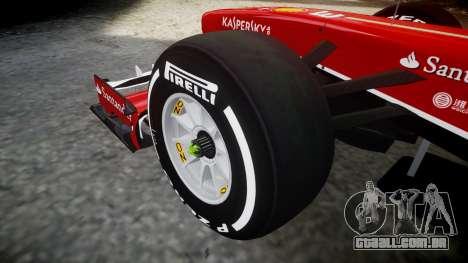 Ferrari F138 v2.0 [RIV] Alonso TMD para GTA 4 vista de volta