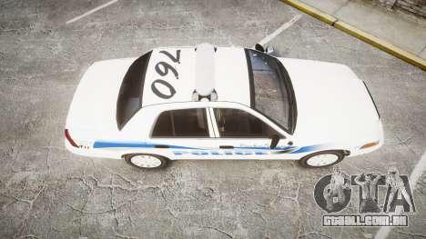 Ford Crown Victoria PS Police [ELS] para GTA 4 vista direita