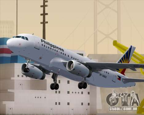 Airbus A319-112 Philippine Airlines para as rodas de GTA San Andreas