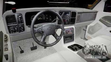 Chevrolet Silverado SWAT [ELS] para GTA 4 vista interior