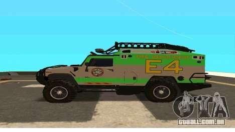 Hummer H2 Ratchet Transformers 4 para GTA San Andreas esquerda vista