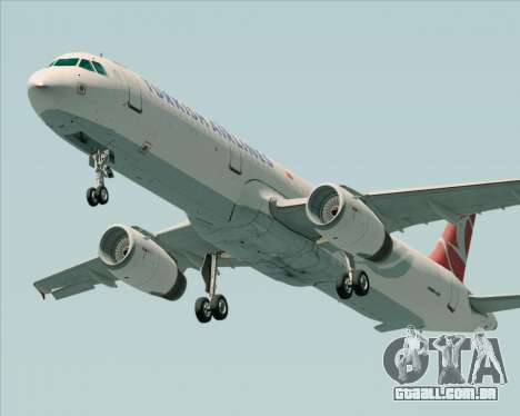 Airbus A321-200 Turkish Airlines para vista lateral GTA San Andreas