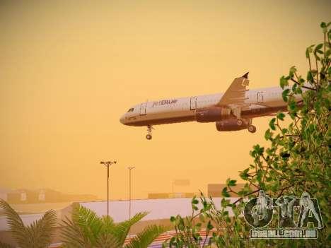 Airbus A321-232 jetBlue Woo-Hoo jetBlue para GTA San Andreas vista superior