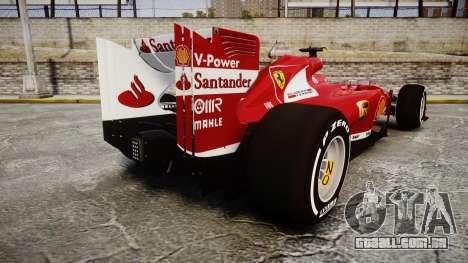 Ferrari F138 v2.0 [RIV] Massa TMD para GTA 4 traseira esquerda vista