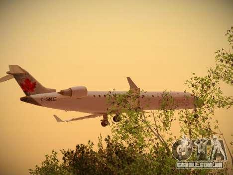 Bombardier CRJ-700 Air Canada Express para GTA San Andreas traseira esquerda vista