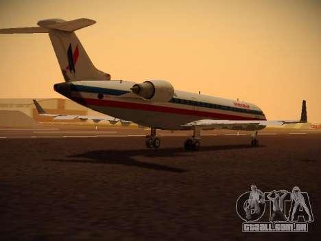 Bombardier CRJ-700 American Eagle para GTA San Andreas vista traseira