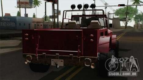 Canis Bodhi V1.0 Rusty para GTA San Andreas esquerda vista
