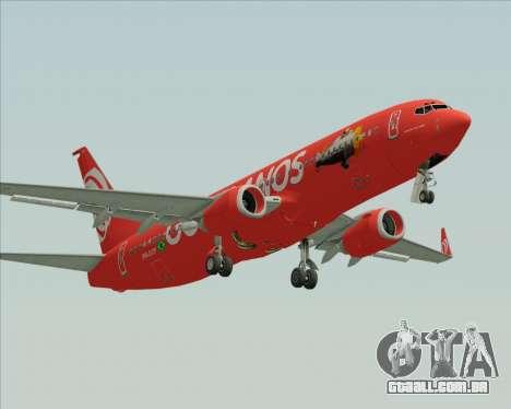 O Boeing 737-800 da Gol Transportes Aéreos para GTA San Andreas esquerda vista