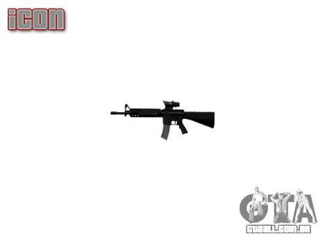 Rifle M16A4 ACOG para GTA 4 terceira tela