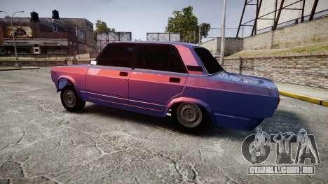 VAZ-2105 hooligan estilo para GTA 4 esquerda vista
