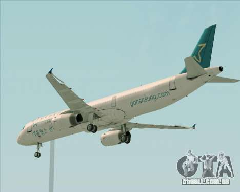 Airbus A321-200 Hansung Airlines para GTA San Andreas vista interior