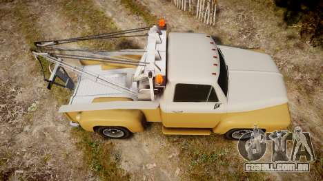 Vapid Tow Truck Jackrabbit v2 para GTA 4 vista direita