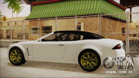 Lampadati Felon GT para GTA San Andreas traseira esquerda vista