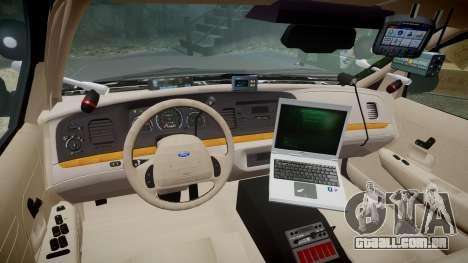 Ford Crown Victoria LASD [ELS] Unmarked para GTA 4 vista de volta