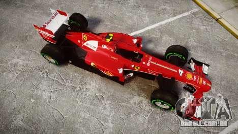 Ferrari F138 v2.0 [RIV] Massa TIW para GTA 4 vista direita