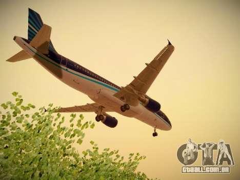 Airbus A320-214 Azerbaijan Airlines AZAL para GTA San Andreas vista superior