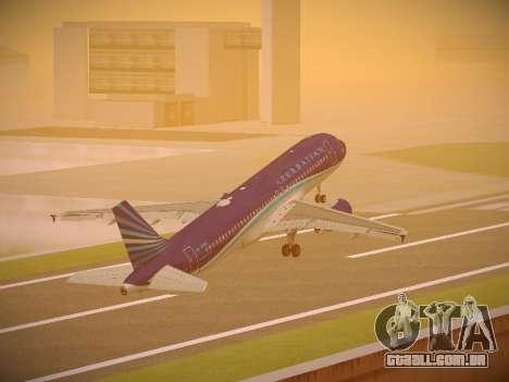 Airbus A320-214 Azerbaijan Airlines AZAL para GTA San Andreas interior