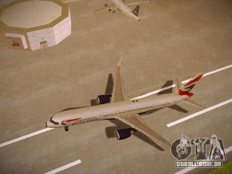 Boeing 757-236 British Airways para GTA San Andreas vista traseira