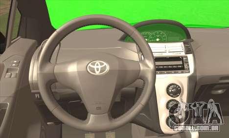 Toyota Yaris Shark Edition para GTA San Andreas traseira esquerda vista