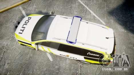 Volkswagen Passat 2014 Marked Norwegian Police para GTA 4 vista direita