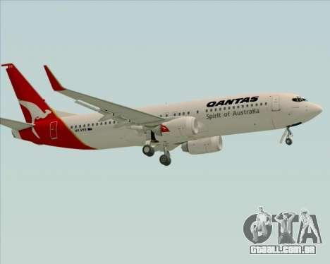 Boeing 737-838 Qantas (Old Colors) para GTA San Andreas vista superior