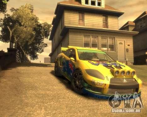 Mitsubishi Eclipse GT Rallycross para GTA 4 vista de volta