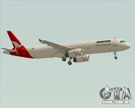 Airbus A321-200 Qantas para GTA San Andreas vista superior