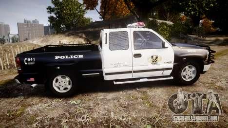 Chevrolet Silverado SWAT [ELS] para GTA 4 esquerda vista